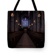 The Aisle Of Princeton Chapel Tote Bag