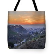The Alhambra And Granada At Sunset Tote Bag