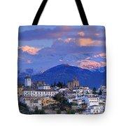 The Alhambra And Granada Tote Bag