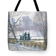The Alice In Wonderland Statue, Central Park, New York Tote Bag