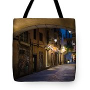 The Alley- In Beautiful Barcelona Tote Bag