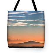 The Alps Sunset Over Fog Tote Bag
