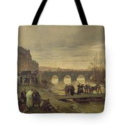 The Ambulance De La Presse At Joinville During The Siege Of Paris Oil On Canvas Tote Bag