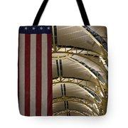 The American Flag At Reagan Airport Tote Bag
