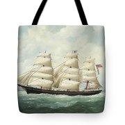 The American Ship Olive S Southard Of San Francisco In French Waters Off Le Havre Tote Bag