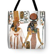 The Ancient Egyptian Goddess Isis Leading Queen Nefertari Tote Bag
