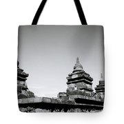 The Ancient Stupas Of Borobudur Tote Bag