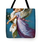 The Angel Of Peace Tote Bag by B T Babbitt