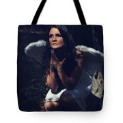 The Angel Prayed Tote Bag by Laurie Search