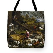 The Animals Entering Noah's Ark Tote Bag