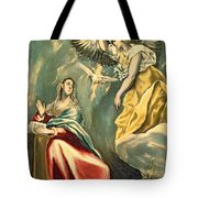 The Annunciation, C.1595-1600 Oil On Canvas Tote Bag