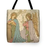 The Annunciation Of The Blessed Virgin Mary Tote Bag by English School