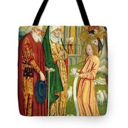 The Annunciation To Joachim And Anne, From The Dome Altar, 1499 Tote Bag