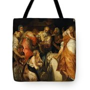 The Anointment Of David Tote Bag