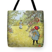 The Apple Harvest Tote Bag by Carl Larsson
