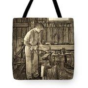 The Apprentice - Paint Sepia Tote Bag