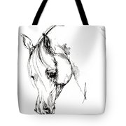 The Arabian Horse Sketch Tote Bag