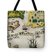 The Arrival Of The English In Virginia Tote Bag