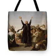 The Arrival Of The Pilgrim Fathers Tote Bag