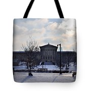 The Art Museum In The Snow Tote Bag by Bill Cannon