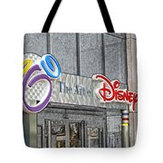 The Art Of Disney Signage Selective Coloring Digital Art Tote Bag