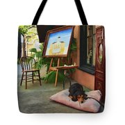 The Artist's Dog Tote Bag