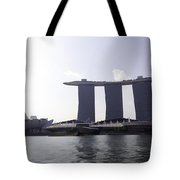The Artscience Musuem And The Marina Bay Sands Resort In Singapore Tote Bag