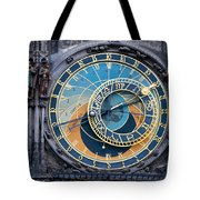 The Astronomical Clock In Prague Tote Bag
