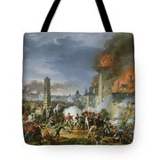 The Attack And Taking Of Ratisbon, 23rd April 1809, 1810 Oil On Canvas Tote Bag