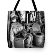 The Aussie Dunny Can - Black And White Tote Bag