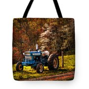 The Autumn Blues Tote Bag