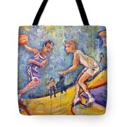 The B-ball Game Tote Bag