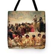 The Babylonian Marriage Market, 1875 Tote Bag by Edwin Longsden Long