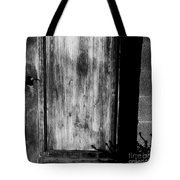The Back Door Bw Tote Bag