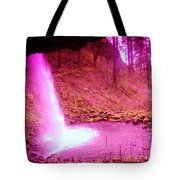 The Backside Of Little Pony Falls  Tote Bag