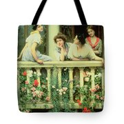 The Balcony Tote Bag by Eugen von Blaas