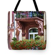 The Balcony Flowers Tote Bag