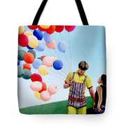 The Balloon Man Tote Bag by Michael Swanson