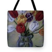 The Banker's Tulips Tote Bag