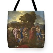 The Baptism Of Christ Tote Bag by Nicolas Poussin