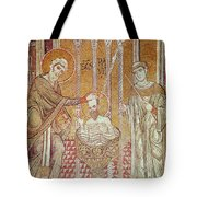 The Baptism Of St. Paul By Ananias, From Scenes From The Life Of St. Paul Mosaic Tote Bag