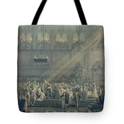 The Baptism Of The King Of Rome 1811-32 At Notre-dame, 10th June 1811, After 1811 Engraving Tote Bag