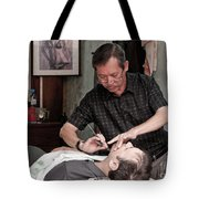 The Barber Shaves Another Customer 02 Tote Bag