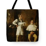 The Barbers Shop Tote Bag