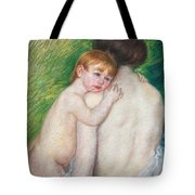 The Bare Back Tote Bag by Mary Cassatt Stevenson