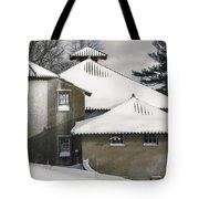 The Barns At Castle Hill After The Snow Tote Bag