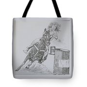 The Barrel Racer Tote Bag