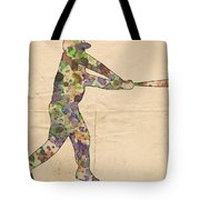 The Baseball Player Tote Bag