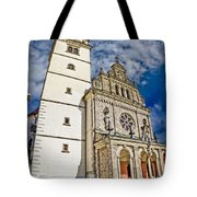 The Basilica In Mary Of Bistrica Tote Bag