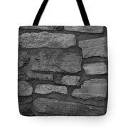 The Battery Wall In Black And White Tote Bag